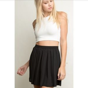 Brandy Melville Flowy Black Circle Mini Skirt